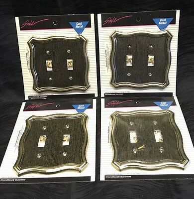 Vintage NOS American Tack & HDWE Cast Metal Light Switch Cover Plate Lot