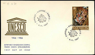 Cyprus 1967 UNESCO FDC First Day Cover Card #C37147
