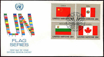 United Nations 1983 Flags Series FDC First Day Cover #C36033
