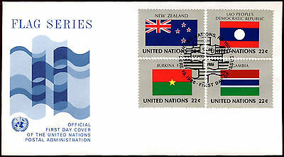 United Nations 1986 Flags Series FDC First Day Cover #C36038
