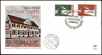 Suriname 1966, Parliament Centenary FDC First Day Cover #C35507