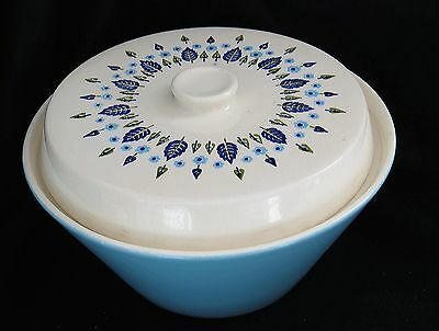 "Vintage Marcrest 1960s Swiss Alpine Round Covered Vegetable Bowl 8 1/2"" x 5 1/4"""