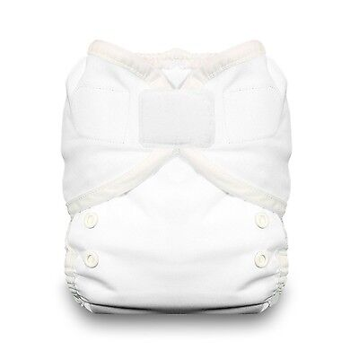 Thirsties Duo Wrap Diaper Cover with Hook and Loop White Size 1 , Free Shipping