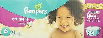 Pampers Cruisers Size 6 Economy Pack 84 Count- Packaging May ... , Free Shipping