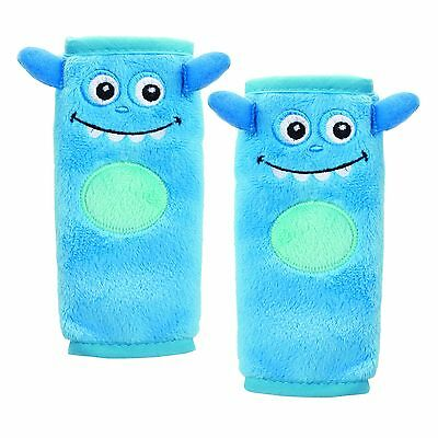Nuby Monster Seat Belt Strap Cover Blue , Free Shipping