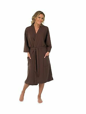 Canyon Rose Waffle Weave Unisex Spa Robe Extra Large Brown , Free Shipping