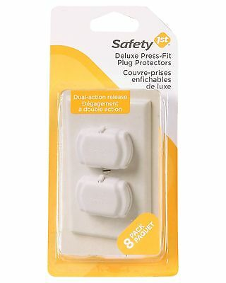 Safety 1st Deluxe Press Fit Outlet Plugs 8-Count , Free Shipping