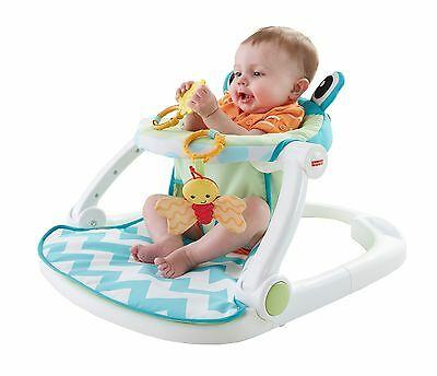 Fisher-Price Sit-Me-Up Floor Seat-Citrus Frog , Free Shipping