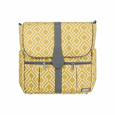 JJ Cole Backpack Diaper Bag Citrine Lattice , Free Shipping