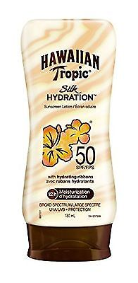Hawaiian Tropic Silk Hydration Sunscreen Lotion SPF 50 180ml ... , Free Shipping
