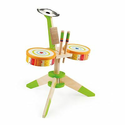 Hape - Early Melodies - Rock and Rhythm Band Wooden Drum Set , Free Shipping