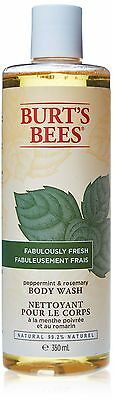 Burt's Bees Peppermint and Rosemary Body Wash 350ml , Free Shipping