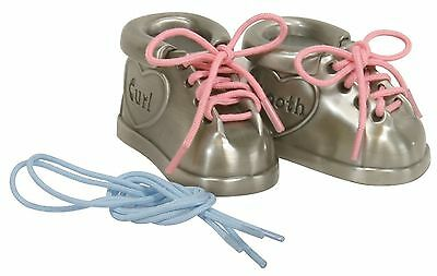 Stephan Baby Pewter First Tooth and Curl Keepsake Shoes , Free Shipping