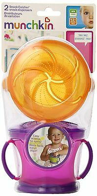 Munchkin Two Snack Catchers (Colors May Vary) , Free Shipping