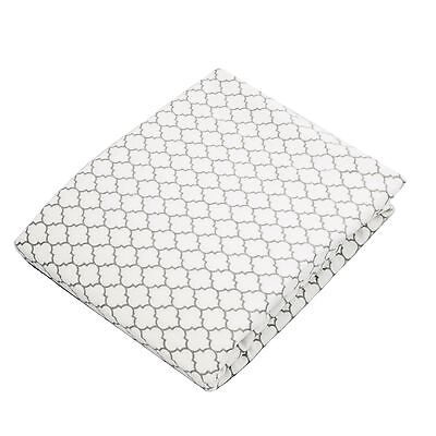 Kushies Baby Fitted Bassinet Sheet White/Grey Ornament , Free Shipping