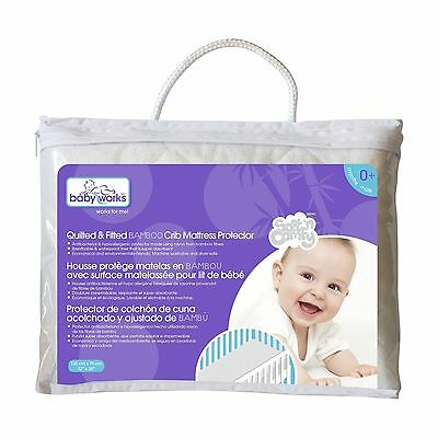 Baby Works Quilted and Fitted Bamboo Crib Mattress Protector ... , Free Shipping