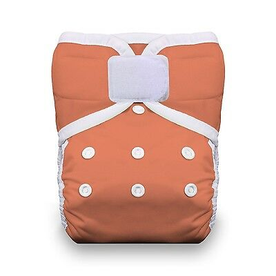 Thirsties One Size Pocket Diaper Hook and Loop Coral , Free Shipping