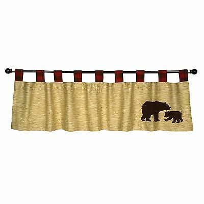 Trend Lab Northwoods Window Valance Red/Tan , Free Shipping