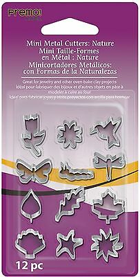 Sculpey AMMCNT premo! Mini Metal Cutters: Nature 12 Pc , Free Shipping