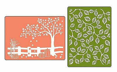 Sizzix Textured Impressions Embossing Folders 2-Pack Fall Set... , Free Shipping