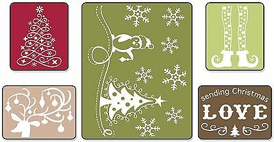 Sizzix Textured Impressions Embossing 5 Folders , Free Shipping