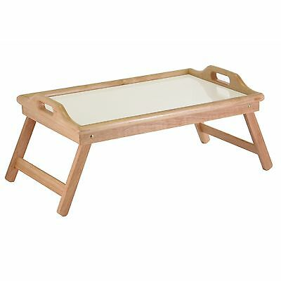 Winsome Wood Breakfast Bed Tray with Handle Foldable Legs , Free Shipping