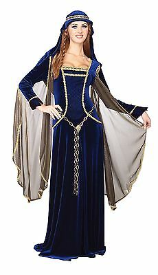 Rubies Costume Deluxe Renaissance Faire Queen Blue Large , Free Shipping