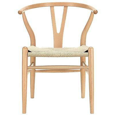 LexMod C24 Wishbone Chair in Natural , Free Shipping