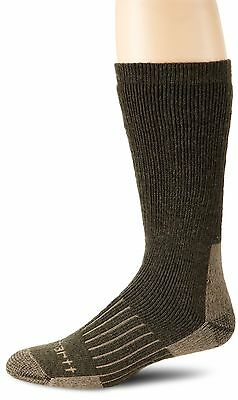 Carhartt Men's Full Cushion Recycled Wool Crew Sock Moss Large , Free Shipping