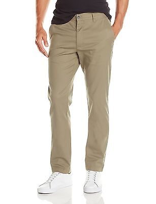 RVCA Men's The Week-End Stretch Pant Dark Khaki 33 , Free Shipping