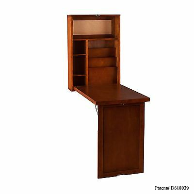Southern Enterprises Walnut Fold-Out Convertible Desk , Free Shipping
