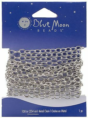 Blue Moon Medium Wide Cable Chain 100-Inch 1-Pack Silver , Free Shipping