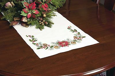 Dimensions Crafts Stamped Cross Stitch Table Runner Christmas... , Free Shipping