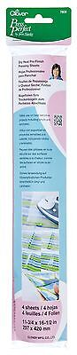 Clover 7809 Dry Heat Pro Pressing Sheets 4 Sheets Per Package... , Free Shipping