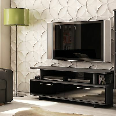 South Shore Furniture Reflekt Collection TV Stand Gray Oak , Free Shipping