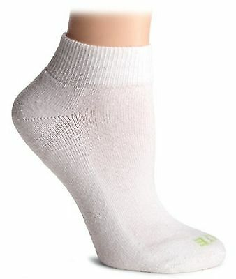 HUE Women's Quarter Top Sock with Cushion 6-Pack White One Size , Free Shipping