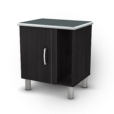 South Shore Furniture Night Stand Cosmos Collection Black Ony... , Free Shipping