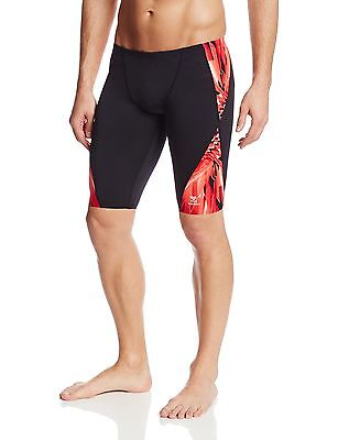 TYR Sport Men's Atlas Blade Splice Jammer Swimsuit Size 28 Red , Free Shipping
