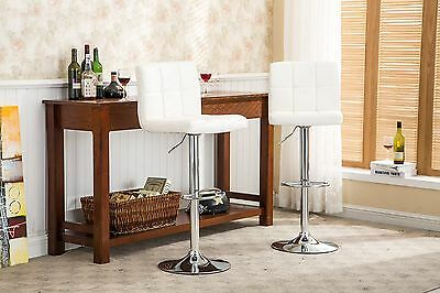 Roundhill Swivel White Leather Adjustable Hydraulic Bar Stool... , Free Shipping