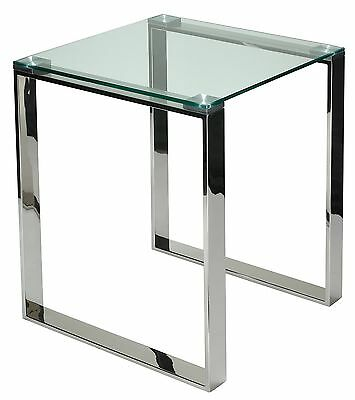 Cortesi Home Remi Contemporary Square Glass End Table with Ch... , Free Shipping