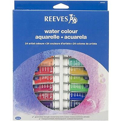 Reeves 24-Pack Water Color Tube Set 10ml , Free Shipping