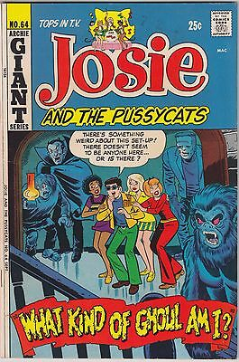JOSIE AND THE PUSSYCATS #64 Archie comics GIANT 1972 Bronze Age Hanna Barbera