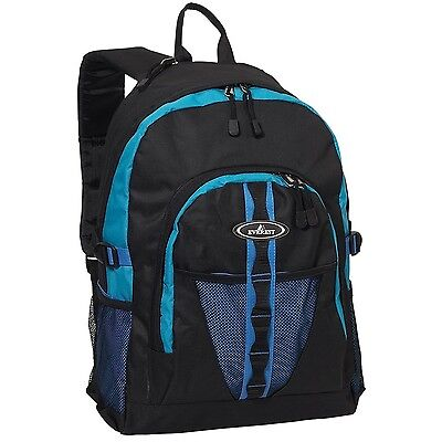 Everest Luggage Backpack with Dual Mesh Pocket Royal Blue/Blu... , Free Shipping