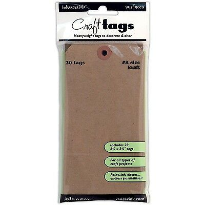 Ranger ISC-31864 Inkssentials Surfaces Kraft Tag No.8 Brown 2... , Free Shipping