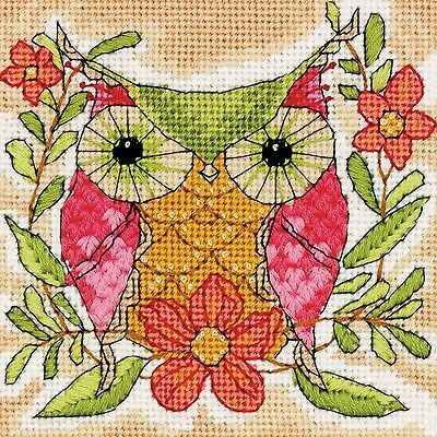 Dimensions Crafts 71-07241 Whimsical Owl Needlepoint , Free Shipping