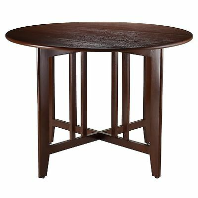 Winsome Wood Alamo Double Drop Leaf Round Table Mission 42-Inch , Free Shipping