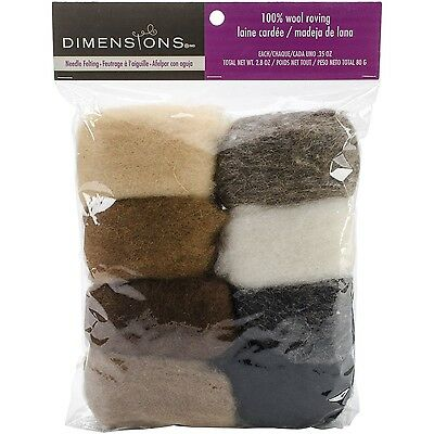 Dimensions Crafts 72-74004 Earth Tone Wool Roving for Needle ... , Free Shipping