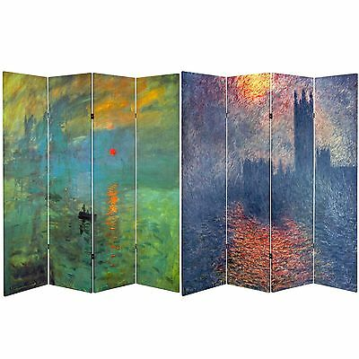 Oriental Furniture Double Sided Works of Monet Canvas Room Di... , Free Shipping