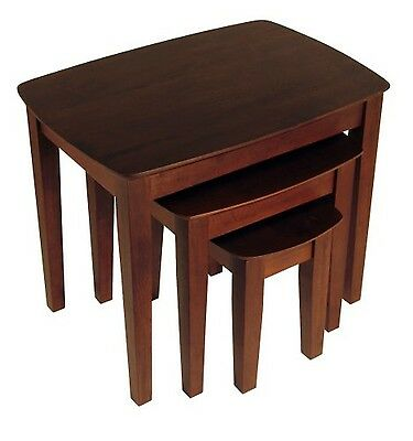 Winsome Wood Nesting Table Antique Walnut , Free Shipping