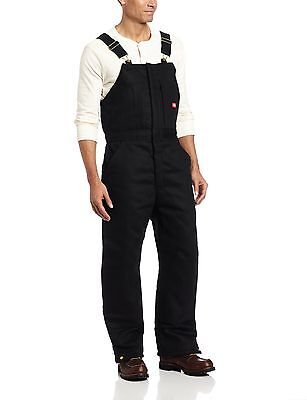 Dickies Men's Insulated Bib Overall Black X-Large , Free Shipping